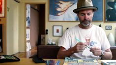 Oh yeah.....fun video of Tommy Kane doing an art journal drawing/painting.  Go Tommy!