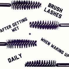Keep those lashes brushed ladies! Keep those lashes brushed ladies! Keep those lashes brushed ladies! Applying False Lashes, Applying Eye Makeup, False Eyelashes, Permanent Eyelashes, Long Lashes, Lash Quotes, Makeup Quotes, Beauty Quotes, Eyelash Extensions Styles