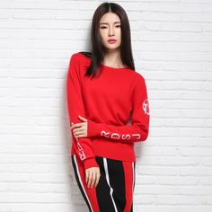 Winter and Autumn Print Pullover Sweater Women O-Neck Long Sleeve Women Knitted Tops Spring High Quality Elastic Girls Sweaters