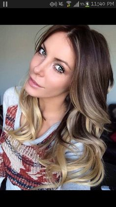 Ah! Perfect blonde ombre.