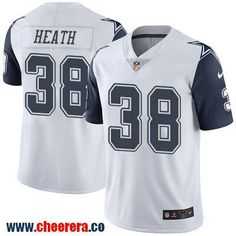 Men's Dallas Cowboys #38 Jeff Heath White 2016 Color Rush Stitched NFL Nike Limited Jersey