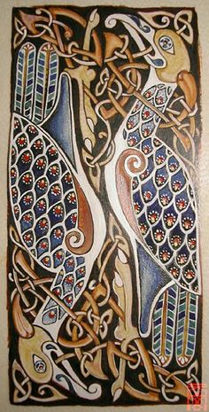 #Celtic Knotwork Birds. Old Celtic style.