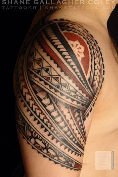 Fijian contemporary sleeve. Can tell by use of brown coloring and the traditional Fijian motifs used.