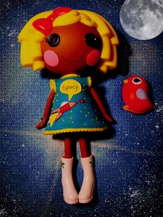 Blast off! Dot Starlight in her new glow in the dark dress made for her by teahoshi on Flickr. #Lalaloopsy