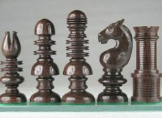 Copy Repro Antique (1820) English Monoblock Pattern ChessSet. http://www.chessbazaar.com/chess-pieces/wooden-chess-pieces/copy-repro-antique-1820-english-monoblock-pattern-chessset.html