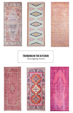 Kitchen Remodeling Trends runners in the kitchen - A collection of 12 rug runners that will add a big dose of color to your kitchen. Room Rugs, Rugs In Living Room, Kitchen Runner, Bathroom Runner Rug, Stair Rugs, Diy Home, Kitchen Flooring, Kitchen Carpet, Carpet Runner