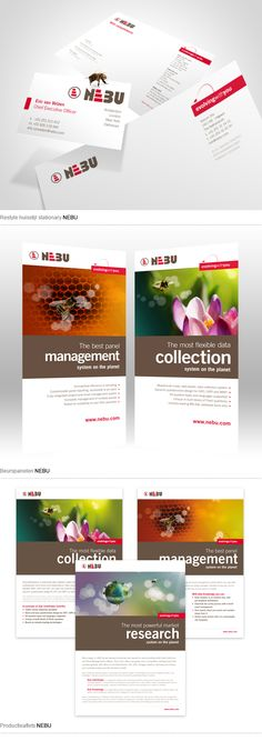 Branding, corporate communication concept and web design for NEBU by Sixtyseven on Behance.