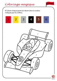 coloriage a code couleur a imprimer - Recherche Google