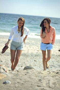 Preppy Summer Outfit, by the ocean!