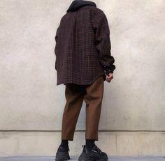 Man street style Japane style Коричневый Мужской уличный стиль #стильнаяодежда