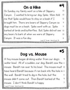 2nd and 3rd Grade Reading Passages in 2 formats: Fluency Cards and Reading Comprehension printables plus comprehension signs. You will love how simple these fluency activities are to incorporate with your plans. You will love the many uses, too. Perfect for morning work, literacy centers, seat work, or homework. link to paid