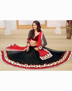 Ethnic Glam Lehenga blackredholly9505B