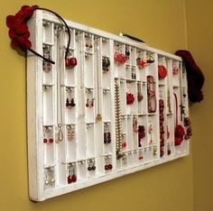 An old drawer to display jewelry. Yes please! by tamera