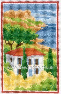 Buy Tuscan View Cross Stitch Kit Online at www.sewandso.co.uk
