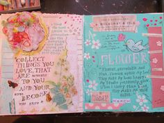 The Painted Flower: more art journaling pages...