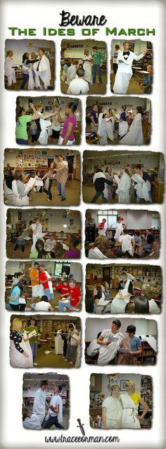 Beware the Ides of March: Classroom photos of Act III Julius Caesar