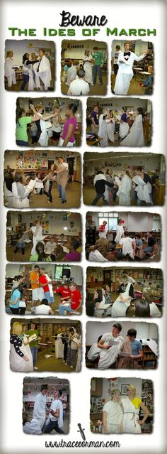 Beware the Ides of March: Classroom photos of Act III Julius Caesar