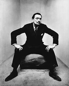 Salvador Dali, 1947 © Irving Penn via latimes.com