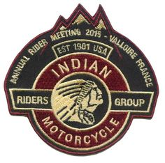 Ecusson Riders Group Indian Motorcycle Meeting 2015