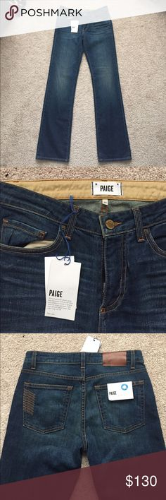NWT Men's Paige doheny straight leg jeans sz 29 Awesome men's Paige doheny straight leg jeans ! Super soft material. Medium wash with fading on thighs and knees ! Paige Jeans Jeans Straight