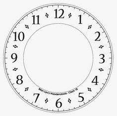 Clock Face Without Hands Crafts Clocks Clock Cds Free