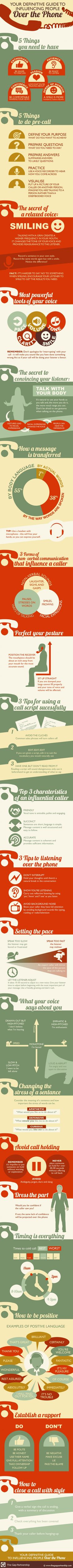 Your Definitive Guide To Influencing People Over the Phone #infographic #Marketing #Phone