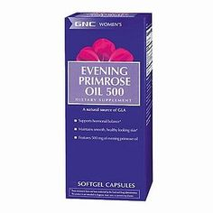 GNC Women's Evening Primrose Oil 500, Softgel Capsules, 90 ea by GNC. $14.90. Provides 500 mg of high quality evening primrose oil. Supports hormonal balance. Helps maintain smooth, healthy looking skin. Dietary Supplement. Cold pressed. Source of GLA. As a women, your body s nutritional needs change throughout every phase of your life requiring different care and nutritional support.  Even with the best intentions, some women can and do fall short on getting the ...