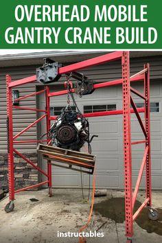 Garage Lift, Garage Tool Storage, Workshop Storage, Garage Tools, Diy Garage, Garage Workshop, Garage Organization, Garage Shop, Metal Projects