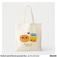 Perfect match Kawaii pancake Marple syrup custom Tote Bag Best Friend Love, Best Friends Forever, Friends In Love, Christmas Table Centerpieces, Custom Tote Bags, Bff Gifts, Best Friend Birthday, Budget Fashion, Pancake