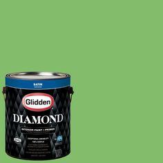 Glidden Diamond 1 gal. #HDGG40D Lollipop Lime Satin Interior Paint with Primer