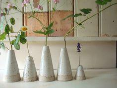 little white ceramic vase by LUKKILI on Etsy, $9.00