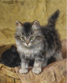 Henriëtte Ronner-Knip | The painter of cats life and cats character