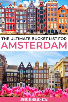 Are you ready to explore Amsterdam, Netherlands and start ticking things off your Amsterdam bucket list? Check out this guide to some of Amsterdam's top things to do – both hidden and not-so-hidden gems! / ultimate Amsterdam bucket list locations / things to do in Amsterdam / unique things to do in Amsterdam / best things to see in Amsterdam / tips and tricks for Amsterdam travelers / Amsterdam travel tips / bucket list locations for Amsterdam / #Amsterdam #TravelTips European Travel Tips, Europe Travel Guide, European Destination, European Vacation, Travel Guides, Cool Places To Visit, Places To Travel, Travel Destinations, Travel Belgium