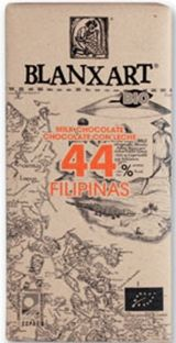 Blanxart 125g. Ciocolata organica, cu lapte, 44% cacao Filipine. BIO Philippines