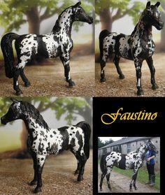 Repaint Schleich Arabian stallion by Schleichgirl1976.deviantart.com on @DeviantArt