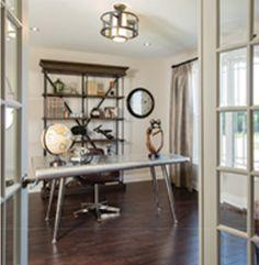 Industrial Lighting, Modern Industrial, Drafting Desk, Office Desk, Furniture, Home Decor, Homemade Home Decor, Desk, Home Furnishings