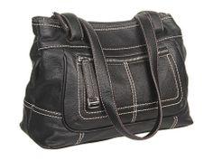 Tignanello Perfect Pockets E/W Shopper Black - Zappos.com