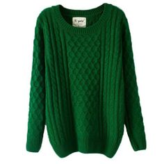 $31.99 nice Jollychic Women's Round Collar Pure Color Pullover Sweater