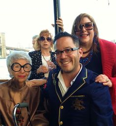 Iris Apfel, Erik Yang and Katerina Musetti.  Fashion Jewelry: The Collection of Barbara Berger, Museum of Arts and Design - NYC.