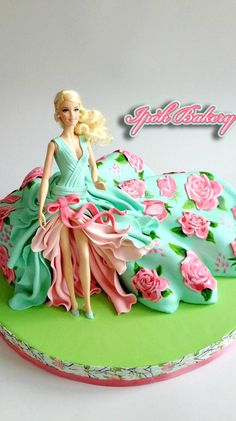 Floral Spring Doll Cake