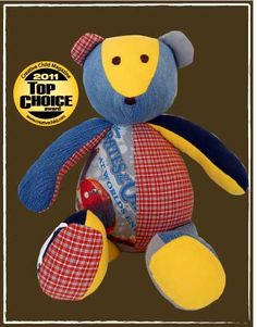 The Patchwork Bear! Send in your little one's special outfits, and they send you back a keep sake bear. Sewing Toys, Sewing Crafts, Sewing Projects, Diy Projects, Diy Arts And Crafts, Crafts To Do, Magazines For Kids, Creative Kids, Christmas Crafts