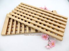 Trivet Maple Wood Hot Plate Decorative by OakHillWoodCreations