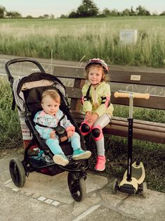 """""""The summer days are long, but the hours pass quickly."""" . . . Oh to be a kid! These 2 are ready for adventures with our MB mini buggy and freerider scooter. hannah   MBx  📷 @life_mirroring """