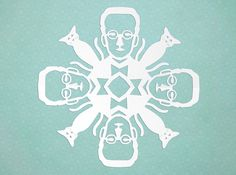 HOWTO cut paper snowflakes in the likeness of Nobel physics prizewinners - Boing Boing