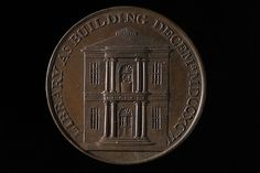 Token showing Birmingham Library by Peter Kempson, 1797.