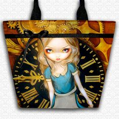canvas tote shoulder bag book tote large purse Sea Beacon Jasmine Becket Griffith Tote bag