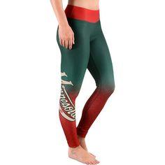 Women's Minnesota Wild Green Gradient Print Leggings