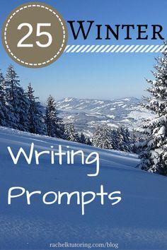 FREE!!  25 Winter Writing Prompts | Rachel K Tutoring Blog