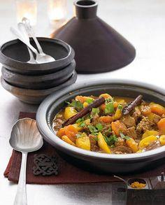 Lamm- Kartoffel-Tajine mit Safran - [ESSEN UND TRINKEN]