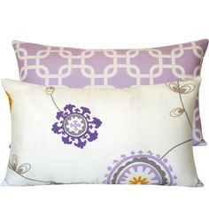 Decorative Cushion Pillow 12x20 Lumbar by ChloeandOliveDotCom, Perfect compliment to the other two pillows.